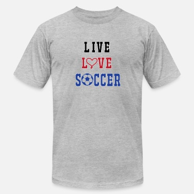 Live Love Soccer Couples Soccer Live Love - Men's  Jersey T-Shirt