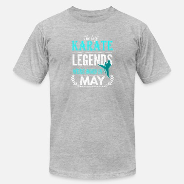 Karate Kid Quote Karate Legends are born in May - Men's  Jersey T-Shirt