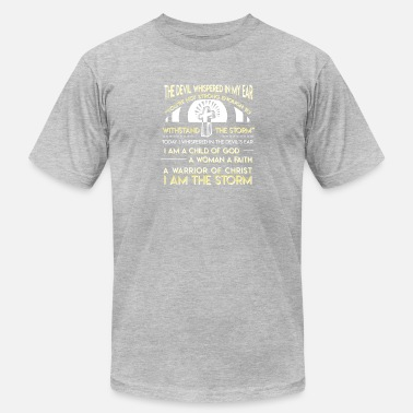8d9a6b756 Child God Woman Faith Warrior Christian - Men's Jersey T-Shirt