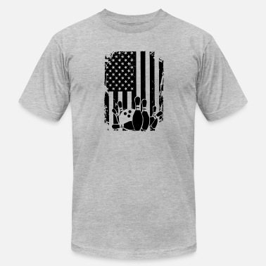Bowling And Flag Bowling Flag Shirts - Men's  Jersey T-Shirt
