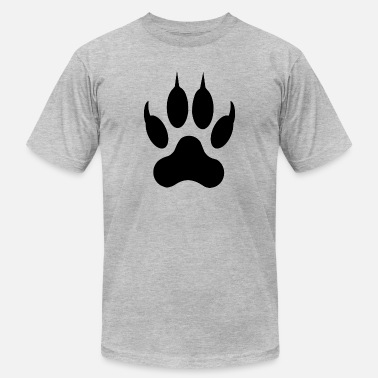 Stamps Wolf Dog Paw Paws Mark Print Stamp Animal Gift - Men's  Jersey T-Shirt