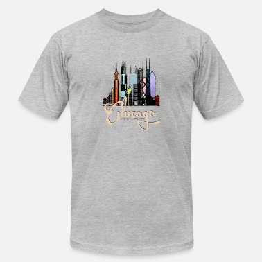 Cool Chicago Chicago Illinois T - Men's Jersey T-Shirt