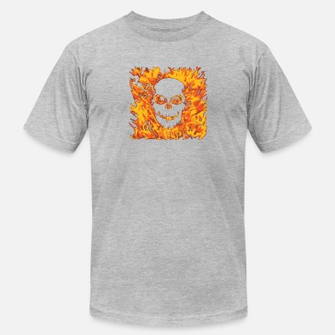Fire Fighter Skull The Skull Fire - Men's  Jersey T-Shirt