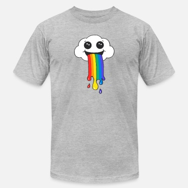 Rainbow Clouds The rainbow is under the clouds - Men's  Jersey T-Shirt