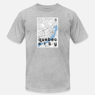 Quebec City Quebec City hipster city map black/white - Men's  Jersey T-Shirt