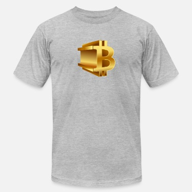 3d Logo bitcoin 3D logo (gold) - Men's Jersey T-Shirt