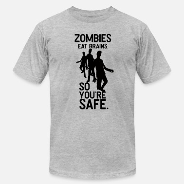 Parenting Zombies eat Brains so you're SAFE Shirt Tee - Men's Jersey T-Shirt