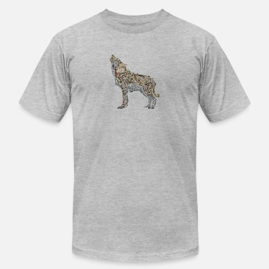 Abstract Drawing Cartoon Abstract wolf animal wildlife vector drawing logo - Men's  Jersey T-Shirt