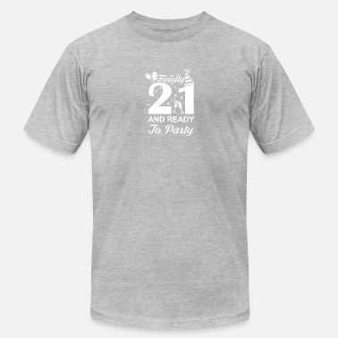 21 Year Old Finally 21 Ready To Party 21 Years Old - Men's Fine Jersey T-Shirt