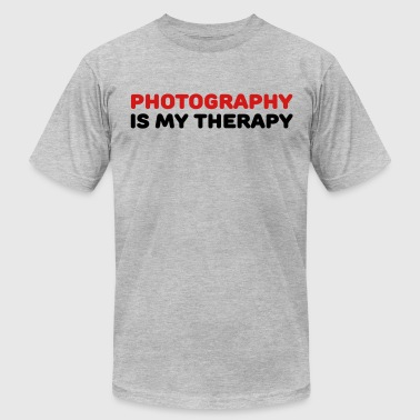 Photography is my therapy - Men's Fine Jersey T-Shirt