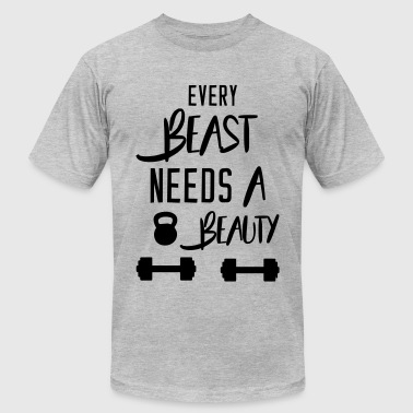 Every beast needs a beauty - Men's Fine Jersey T-Shirt