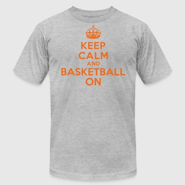 Keep calm and basketball on crown - Men's Fine Jersey T-Shirt
