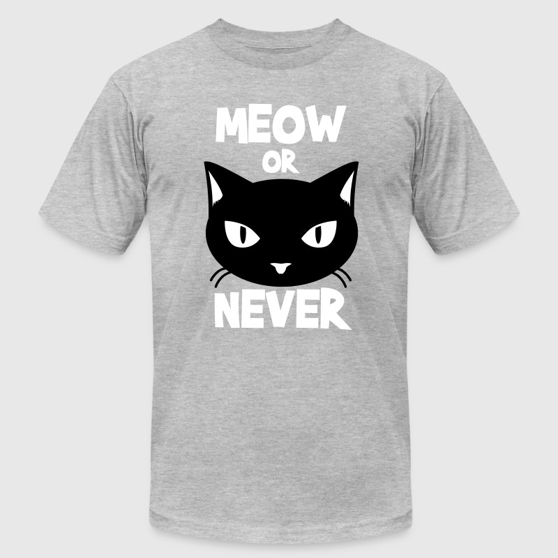 Meow or never - Men's Fine Jersey T-Shirt