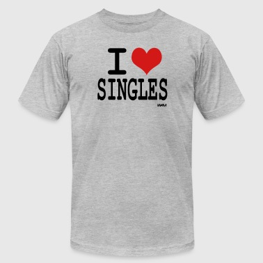 i love singles by wam - Men's Fine Jersey T-Shirt