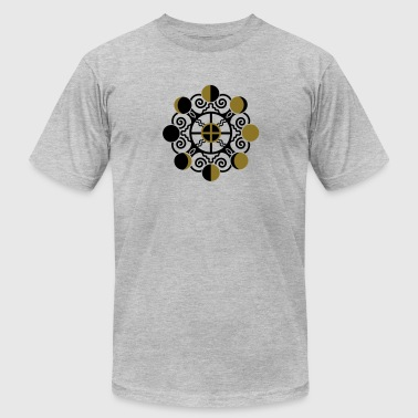 Moon Phases & Earth - Symbol change is stability - Men's Fine Jersey T-Shirt
