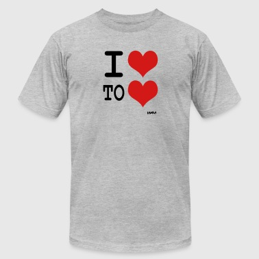i love to love by wam - Men's Fine Jersey T-Shirt