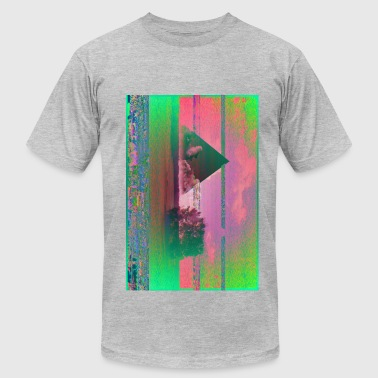 Men's Fine Jersey T-Shirt - Glitch,art design,corruption,data,digital,retro,triangle