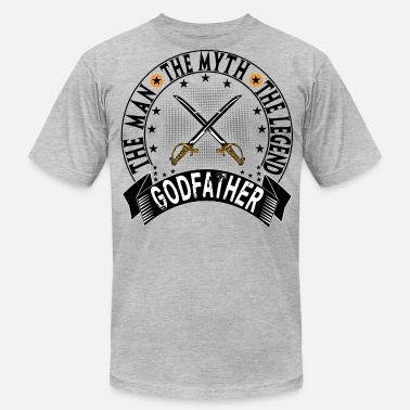 Worlds Coolest Godfather GODFATHER THE MAN THE MYTH THE LEGEND - Men's  Jersey T-Shirt