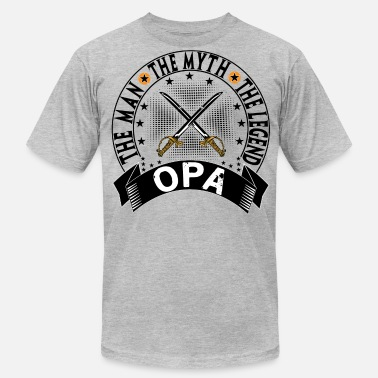Opa The Man The Myth The Legend OPA THE MAN THE MYTH THE LEGEND - Men's Fine Jersey T-Shirt