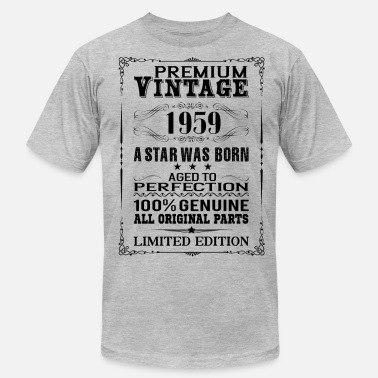 57 Years Old Birthday PREMIUM VINTAGE 1959 - Men's  Jersey T-Shirt