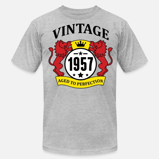 1957 T-Shirts - Vintage 1957 Aged to Perfection - Men's Jersey T-Shirt heather gray
