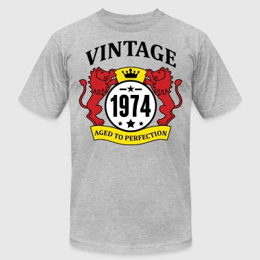 Vintage 1974 Aged to Perfection - Men's Fine Jersey T-Shirt