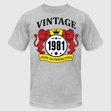 Vintage 1981 Aged to Perfection, - Men's Fine Jersey T-Shirt