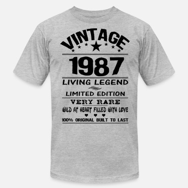 Vintage 1987 Birthday VINTAGE 1987 - Men's Jersey T-Shirt
