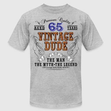 VINTAGE DUDE AGED 65 YEARS - Men's Fine Jersey T-Shirt