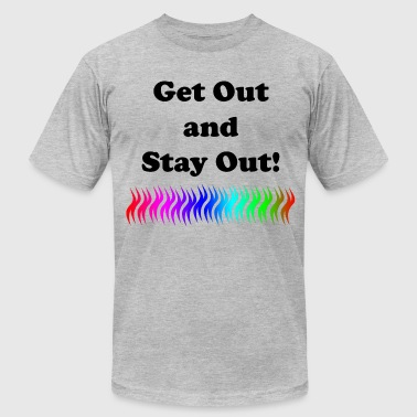 Orienteering Merchandise Get Out and Stay Out - Men's Fine Jersey T-Shirt