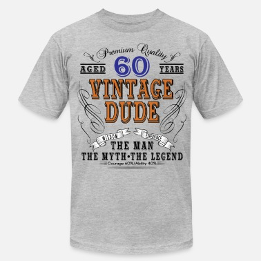 Vintage Dude 60 VINTAGE DUDE AGED 60 YEARS - Men's  Jersey T-Shirt