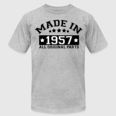 All Original Parts 1957 MADE IN 1957 ALL ORIGINAL PARTS - Men's Fine Jersey T-Shirt