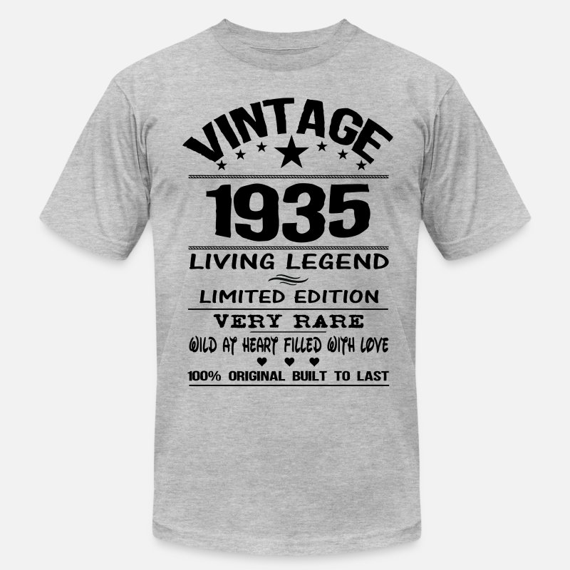 1935 T-Shirts - VINTAGE 1935 - Men's Jersey T-Shirt heather gray