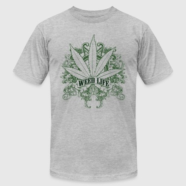 7 Weed Design - Green - Men's Fine Jersey T-Shirt