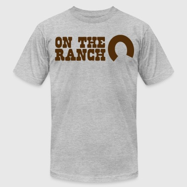 on the ranch - Men's Fine Jersey T-Shirt