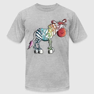Rainbow Zebra - Men's Fine Jersey T-Shirt