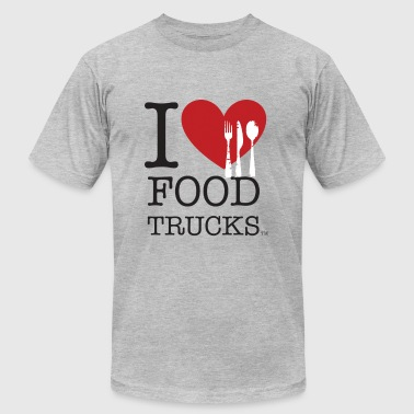 I Love Food Trucks - Men's Fine Jersey T-Shirt