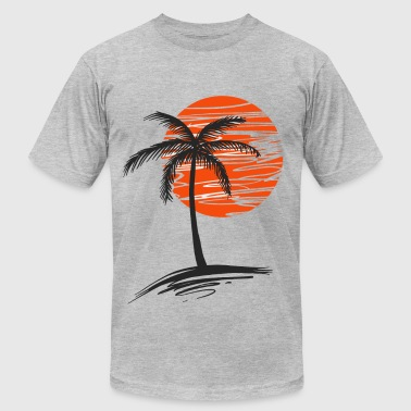 Palm tree - Men's Fine Jersey T-Shirt