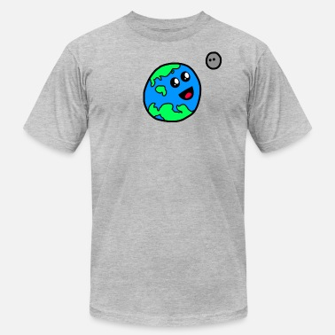 Moony Planet Christopher and Moonie - Men's Fine Jersey T-Shirt