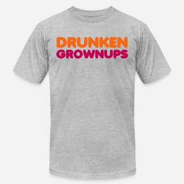 Dunkin Donuts DRUNKEN GROWNUPS - Men's  Jersey T-Shirt