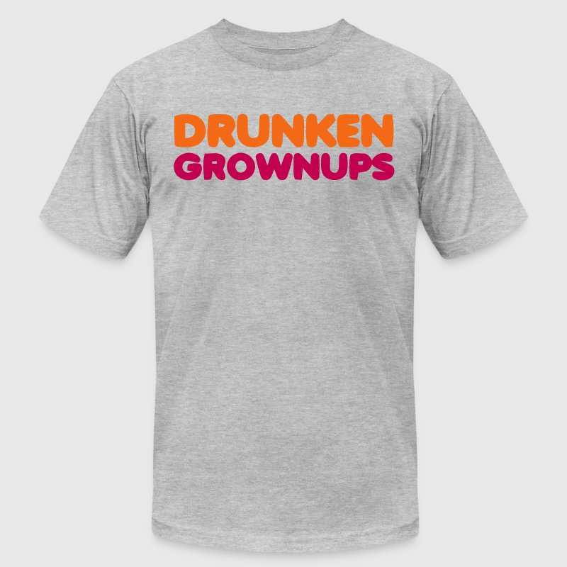 DRUNKEN GROWNUPS - Men's Fine Jersey T-Shirt