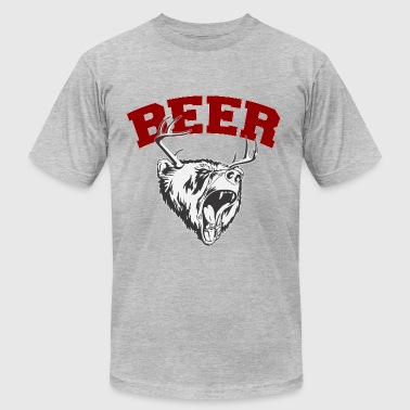 Beer Deer and Bear - Men's Fine Jersey T-Shirt