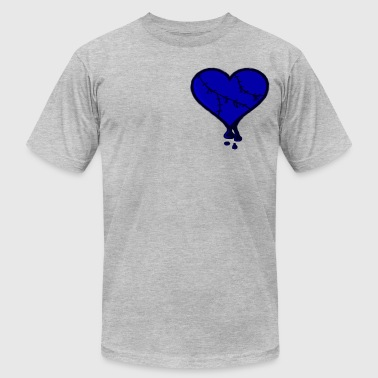 We Bleed Blue Stitched Heart - Men's Fine Jersey T-Shirt