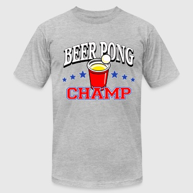beer pong champ (png) - Men's Fine Jersey T-Shirt