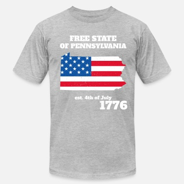 4th of July Independence Day Pennsylvania - Men's Fine Jersey T-Shirt