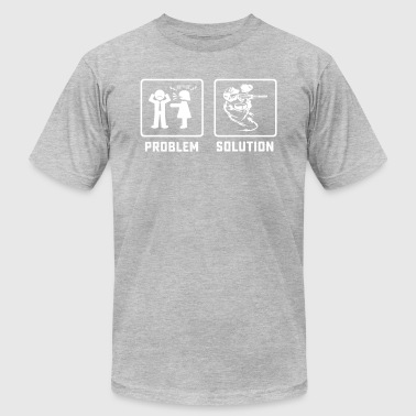 Paintball Player Paintball player problem tshirt - Men's Fine Jersey T-Shirt