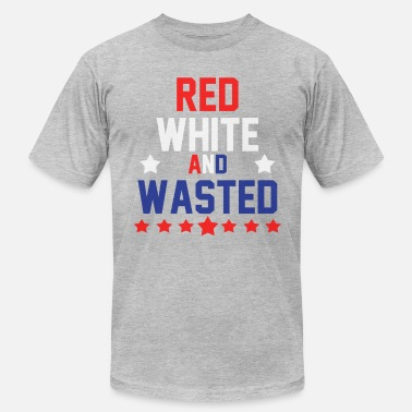 Wasted Red White & Wasted - Men's  Jersey T-Shirt