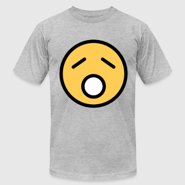 Smiley Face Sad Sleepy Looking - Men's Fine Jersey T-Shirt