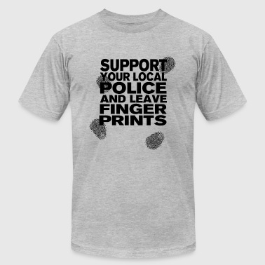 Support your Police Finge - Men's Fine Jersey T-Shirt
