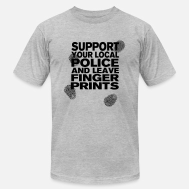 Crime Scene Support your Police Finge - Men's Fine Jersey T-Shirt